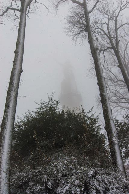 Photo Essay: Birmingham's Vulcan Trail Enshrouded in Snow