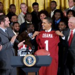 President Obama Congratulates Alabama at White House
