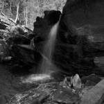 Photo Essay: Cheaha Falls and Trail in Black and White