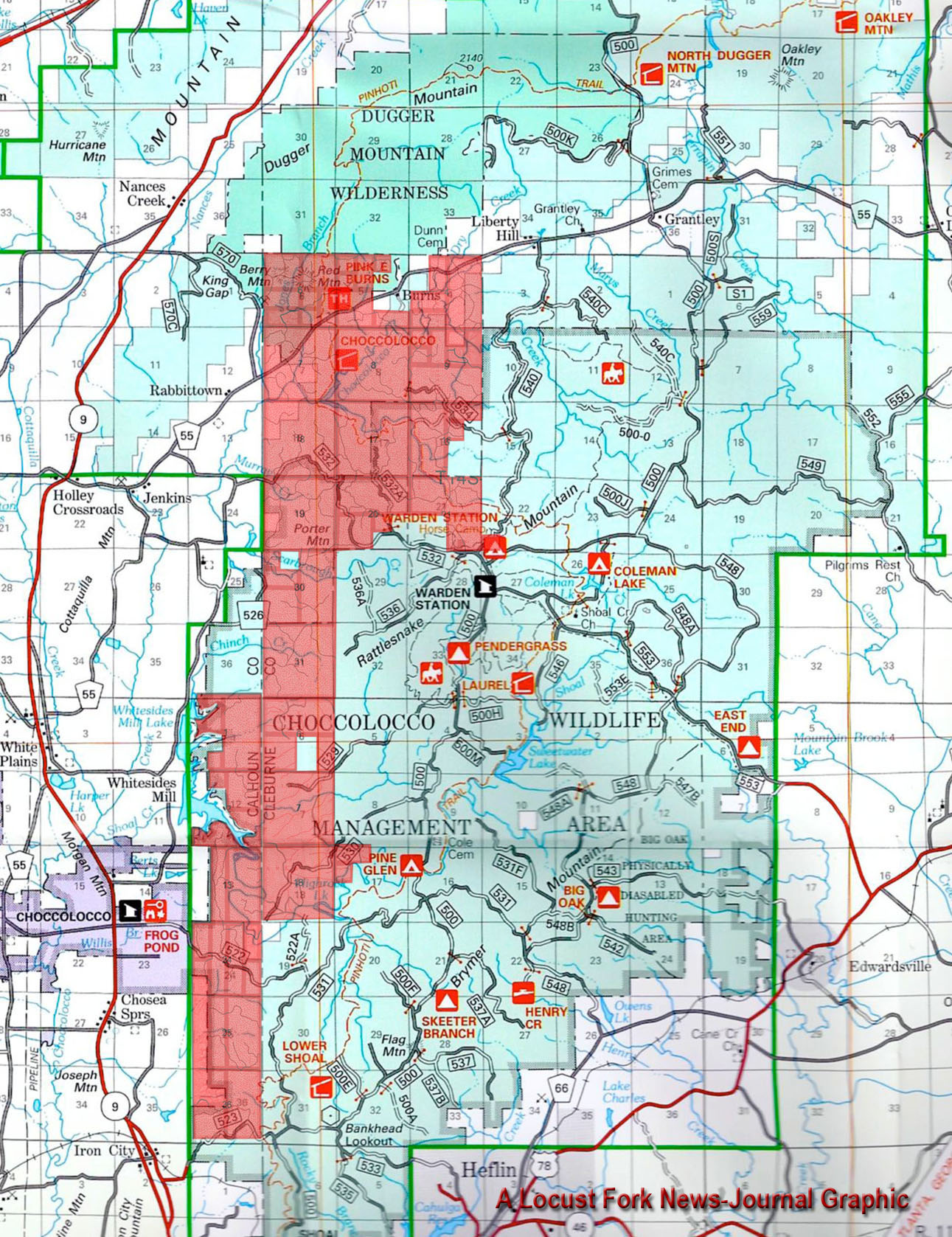Talladega National Forest Map Fracking in the Talladega National Forest is Not in the National  Talladega National Forest Map